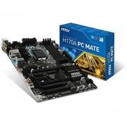Carte mre MSI H170A PC MATE ATX Socket 1151 Intel H170 Express - SATA 6Gb/s + SATA Express + M.2 - USB 3.1 - 2x PCI-Express 3.0 16x