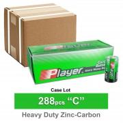 288pc Player PYR14VS C Extra Heavy Duty Carbon Zinc Batteries MN1400