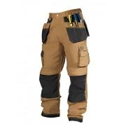 Lee Cooper Workwear Men's Cargo Regular Work Trouser - Tan/Black, 36W