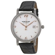 Montblanc Star Classique Silvered White Dial Mens Watch 110717