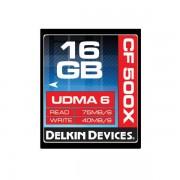 Card Delkin Compact Flash 16GB 500x UDMA 6