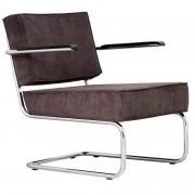 Zuiver Ridge Lounge Rib Loungestuhl Mit Armlehnen Grau
