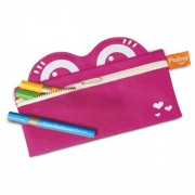 Pkolino Mess Eaters: Pencil Case - Pink