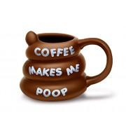 Big Mouth Toys Coffee Makes Me Poop Taza