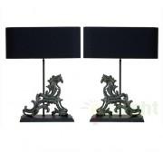 Set de 2 lampi identice, finisaj antique bronze, H-63cm, Romeo 107140 HZ