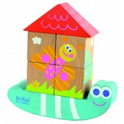 Boikido Eco-Friendly Wooden Cube Puzzle Snail