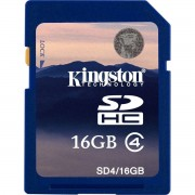 Card Kingston SDHC 16GB Clasa 4 SD4/16GB