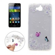 For Huawei Y6 Pro Variegated Butterflies Pattern Transparent Soft TPU Protective Back Cover Case