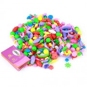 LAIMALA Colourful Beads Toys for Kids Handmade DIY Crafts Arts Jewelry Making Kits Assorted Shapes and Colours...