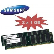 Samsung 2 GB DUAL CHANNEL Kit: SAMSUNG 2 x 1024 MB 184 pin DDR-400 spartronic (400 mhz PC-3200 CL3) DIMM 64Mx 8 x 8 single side per tablet - 100% compatibile con 333 mhz PC-2700/266 mhz PC-2100