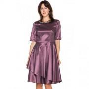 Metafora Śliwkowa sukienka z tafty - Metafora
