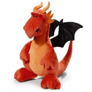 NICI Red and Black Dragon Soft Toy sitting 20cm by Nici