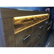 Scaun directorial piele eco HM Lotus rosu