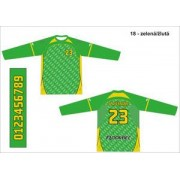 FLOORBEE Goalie Uniform Jr. S zelená / žlutá