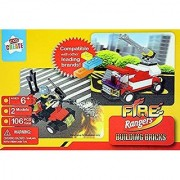 2n1 Fire Rangers Firefighter Building Bricks Compatible with Lego - 106 piece Set by Kids Create