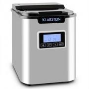 Klarstein ICE6 Icemeister, jégkocka készítő gép, 12 kg/24 óra, rozsdamentes acél, fekete (ICE6-Icemeister-B)