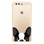 Huawei P10 Lite - Coque Souple Transparente Avec Impression De Quailté Pour Huawei P10 Lite , Chien