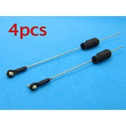 Generic w 150mm rod : 4pcs RC Model Boat Pull Rod Kit/M2 Rod End+Rubber Bellows Radio Box Seals+M2 Pull Rod For Steering Servo Push Rod Seal to Rudder