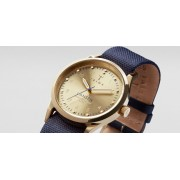 TRIWA Gold Lansen Watch Navy Blue