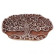 Tree Indian Wood Block Art Stamps Handcarved Printing Block Textile Stamp