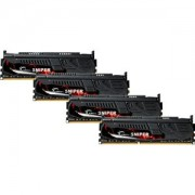 Memorie G.Skill Sniper 16GB (4x4GB) DDR3 PC3-19200 CL11 1.65V 2400MHz Dual Channel Quad Kit, F3-2400C11Q-16GSR
