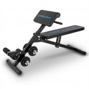 Capital Sports Varient Banco de abdominales y bíceps Ajustable Set de pesas de 2