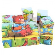 Dazzling Toys Animal Puzzle on Cubes 6 Puzzles in 1