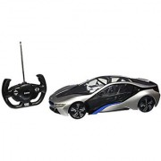 Radio Remote Control Model Car 1/14 BMW i8 Authentic Body Styling W/Brilliant Lighting Effects RC Vehicles (Silver) by Midea Tech