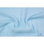 Tessuto Pile Micro-Pelliccia Celeste