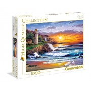 Clementoni 39368 - Lighthouse at sunset - Puzzle High Quality Collection 1000 pezzi