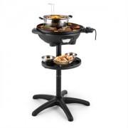 Klarstein Grillpot, 1600 W, 40 cm, elektromos grillsütő, álló grillsütő, asztali grillsütő, öntöttvas (GQ7-Grillpot)