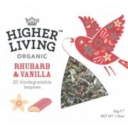 Ceai organic cu vanilie si Rhubarb Higher Living