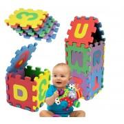 529052 Tappeto puzzle lettere e numeri 36 pz gioco didattico 17 x 17 cm