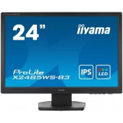 "Monitor IPS LED iiyama 24.1"" X2485WS, Full HD (1920 x 1080), DVI, DisplayPort, VGA, 4 ms, Boxe (Negru) + Bitdefender Antivirus Plus 2017, 1 PC, 1 an, Licenta noua, Scratch Card"