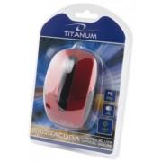Mouse Cu Fir TITANUM TM108R Optic Rosu/Negru
