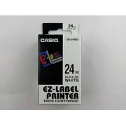 Compatible Casio XR24WE Black Text on 24mm wide White Label Tape