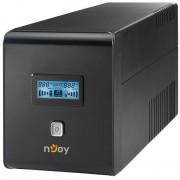 UPS nJoy Isis 1000L, 1000VA/600W, LCD Display, 4 prize Schuko cu protectie, PWUP-LI100IS-AZ01B (NJOY)
