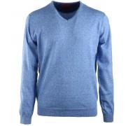 Suitable Pullover V-Hals Blau - Blau XL