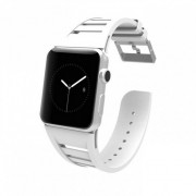 CaseMate Vented Strap - еластична каишка за Apple Watch 42мм (бял)