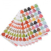 Magideal 10 Colorful Christmas Tree Adhesive Stickers Seal Bomboniere Craft Gift Card