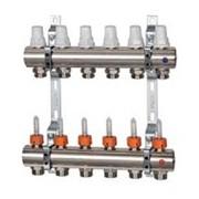 Distribuitor cu debitmetre si robineti termostatici K013 - 6 cai