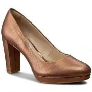 Clarks Półbuty CLARKS - Kendra Sienna 261258734 Bronze Metallic