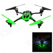 """8927V 4-CH 2.4GHz 6-Axis Gyro R / C Quadcopter w / camara 1.3MP / 1.4 """"LCD / LED - Verde + Negro"""