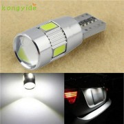 AUTO 1PC New parking HID White CANBUS T10 W5W 5630 6-SMD Auto LED Bulb Lamp 194 192 158 License Plate Lights car styling Jul 18