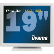 iiyama ProLite T1931SR-W1 19' LED LCD Resistive Touchscreen 1280 x 1024 speakers VGA DVI 200cd/m² 900:1 5ms RS232 & USB int. PSU VESA 100