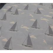 Apró mintás bútorszövet maradék, piros IV. 39x140cm/0016/Cikksz:1231050