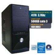 Computador Intel Core I3-4170- LGA-1150, H81M-CS/BR, 4GB DDR3, HD 1TB , Windows 7 Pro