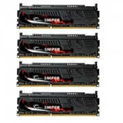 Memorie G.Skill Sniper 16GB (4x4GB) DDR3 PC3-12800 CL9 1.35V 1600MHz Intel Z97 Ready Dual/Quad Channel Kit, F3-12800CL9Q-16GBSR1