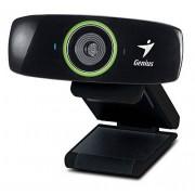 Genius Facecam 2020 Webcam, 2 Mp, Mic, USB 2.0, Nero