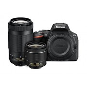 Black , Dual Lens Kit (18-55mm VR & 70-300mm Lens) , Base : Nikon D5500 DX-format Digital SLR Dual Lens Kit w/ - Nikon AF-P DX NIKKOR 18-55mm f/3.5-5.6G VR & Nikon AF-P DX NIKKOR 70-300mm f/4.5-6.3G ED Lens